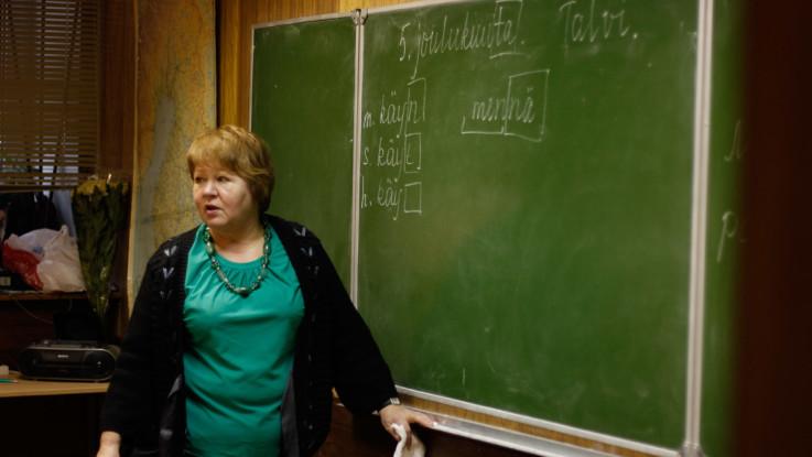 Урок финского языка у подростков